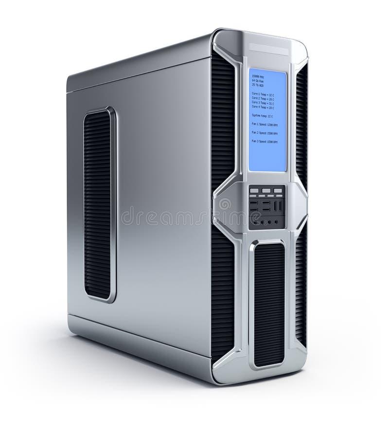 Server moderno del calcolatore illustrazione di stock