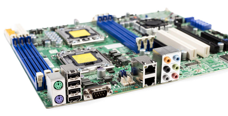 Server motherboard royalty free stock photo