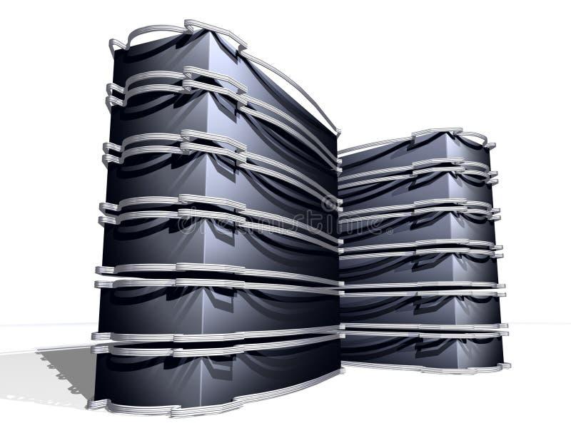 Server neri neri illustrazione vettoriale