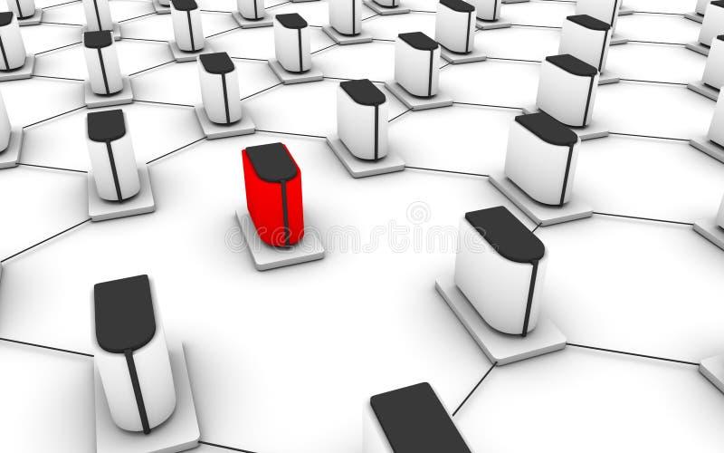 Server network vector illustration