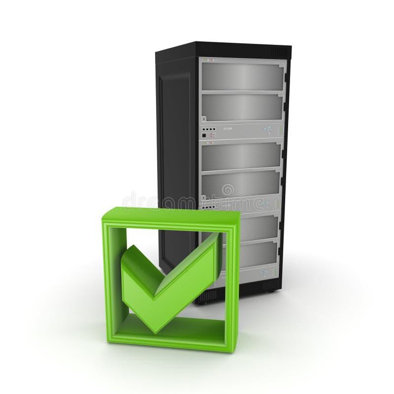 Server- och gräsplanfästingfläck. stock illustrationer