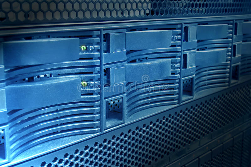 Server panel close-up royalty free stock photography