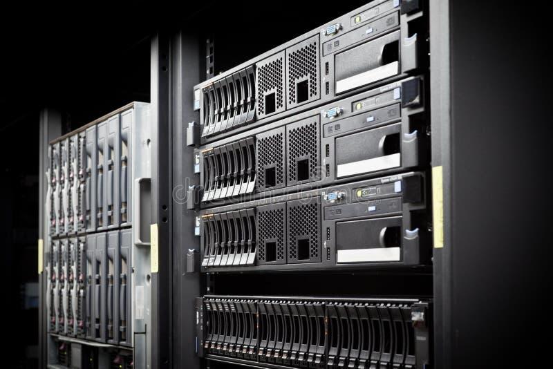 Server Rack hard disks stock photos