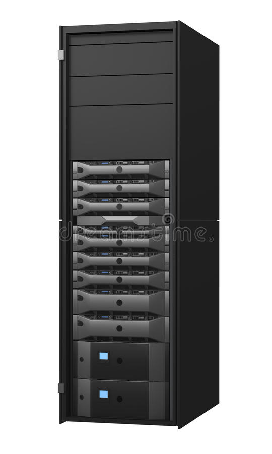 Server rack vector illustration