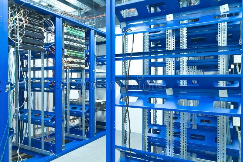 Server room. A server room with racks stock photos