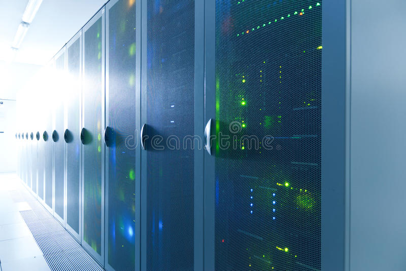Download Server room stock image. Image of network, cluster, connection - 17160927