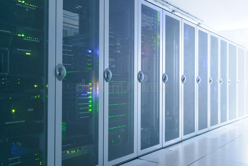 Server room. Picture of a server room. Photo was taken in the dark stock images