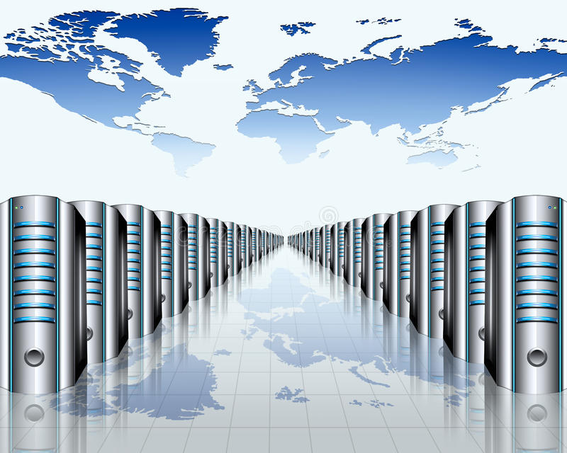Download Server room stock illustration. Image of data, equipment - 21004583