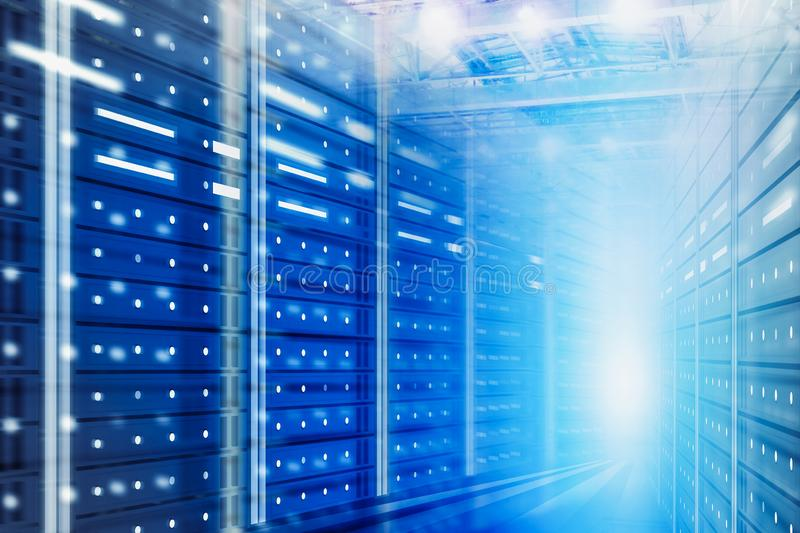Server room background, big data concept royalty free stock photos