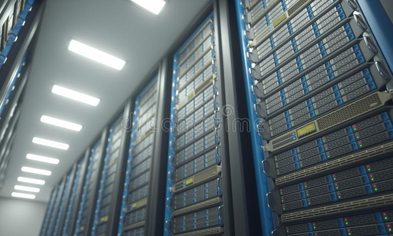 Server Room Data Center royalty free illustration
