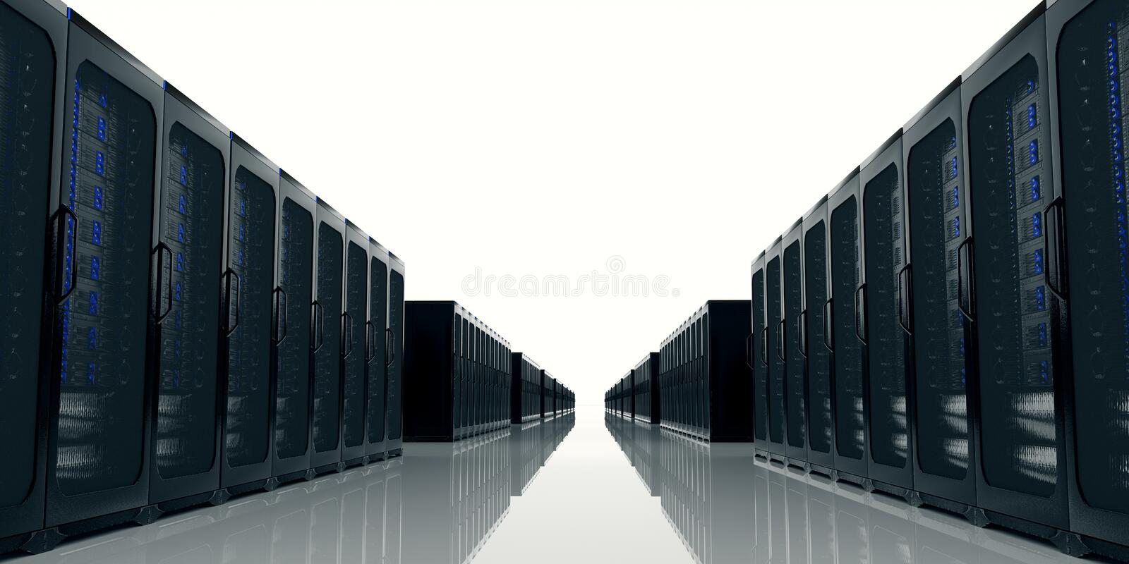 Server Room extremely detailed and realistic high resolution 3d illustration vector illustration