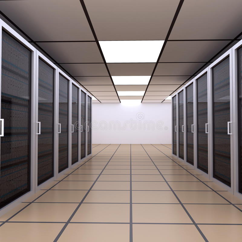 Server Room / Internet Hosting stock illustration