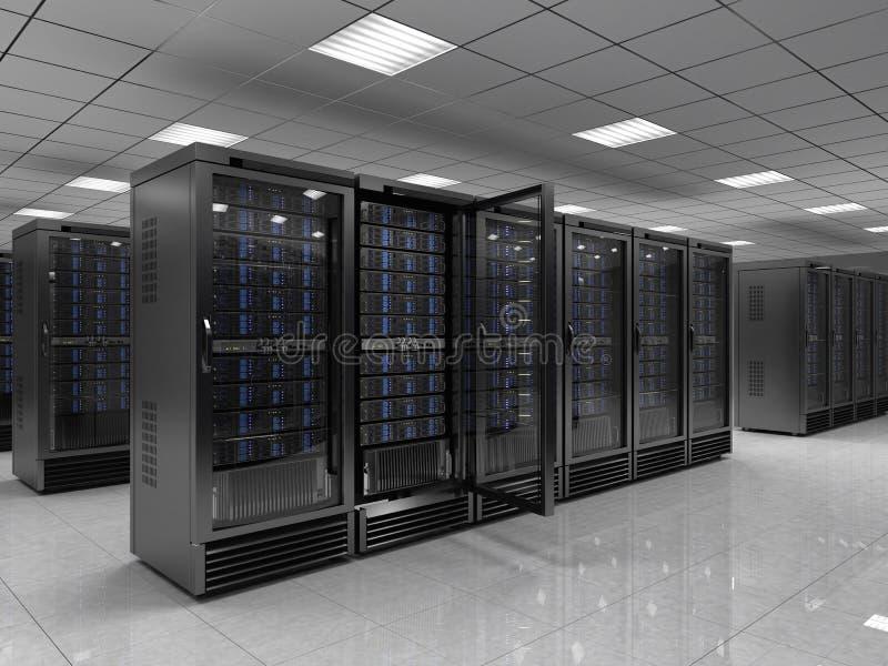 Server room. Modern Server room - 3d render