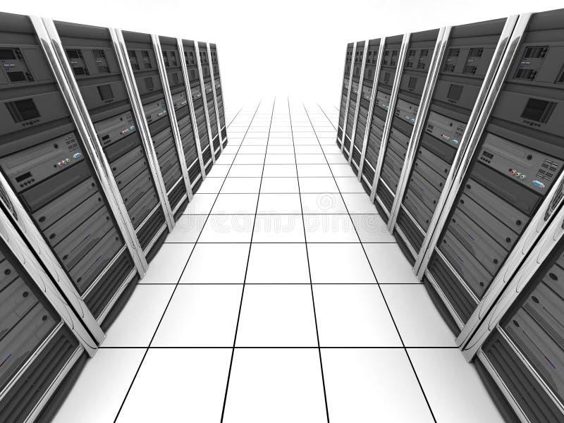 Server-ruimte (meningsbovenkant) vector illustratie