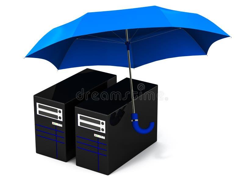IT server security vector illustration