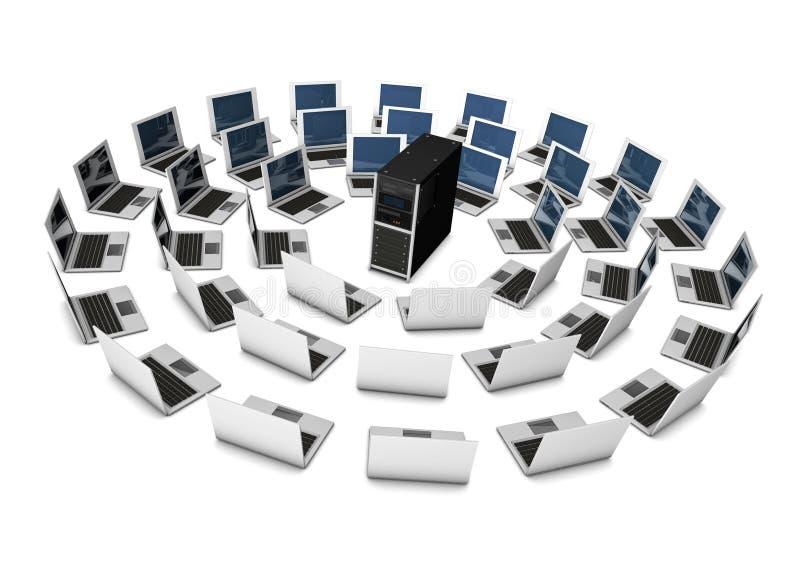 Server sharing stock illustration
