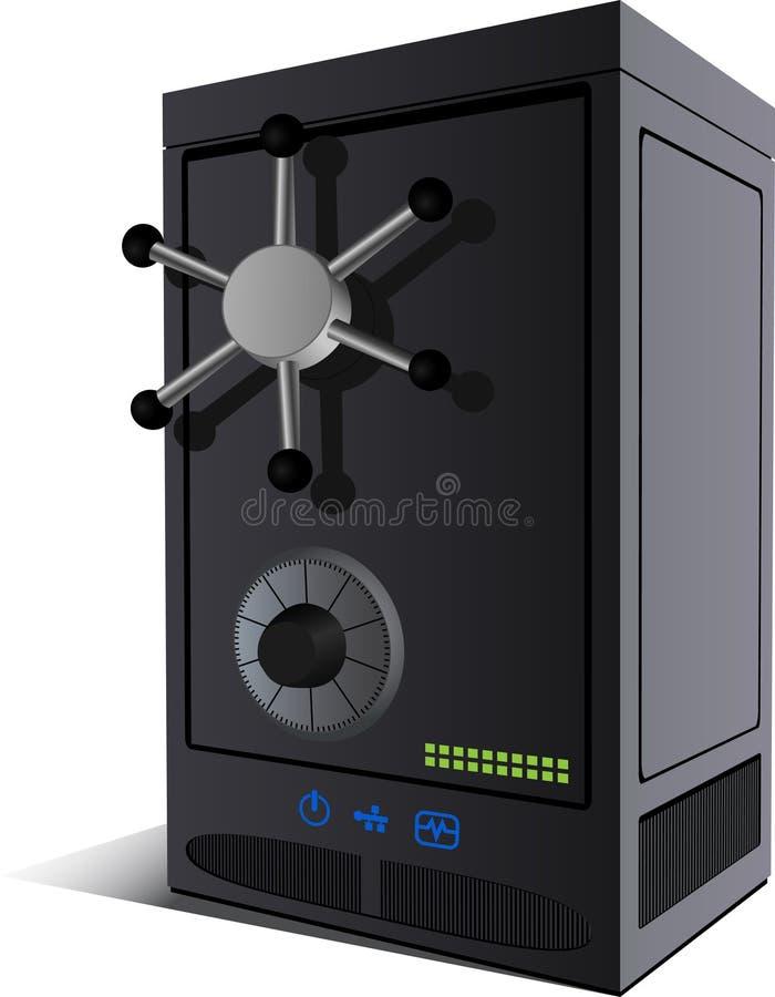 Server-sicher lizenzfreie abbildung