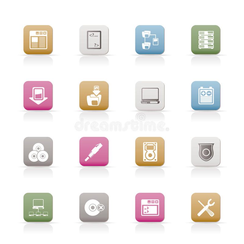 Download Server Side Computer icons stock vector. Image of delete - 12781660