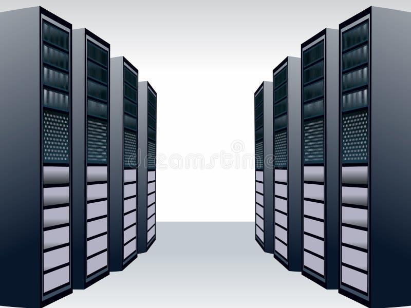 Server station vector illustration