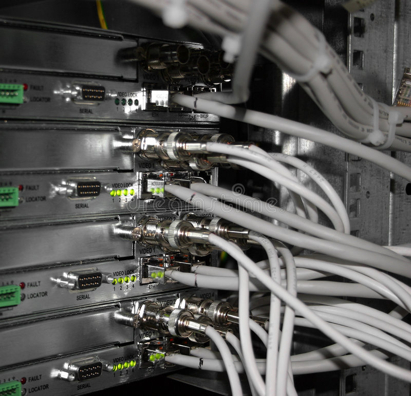 Server station. Telecommunications, digital station device, cross, cable