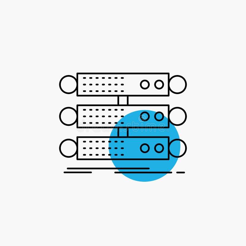 Server, Struktur, Gestell, Datenbank, Datenleitung Ikone vektor abbildung