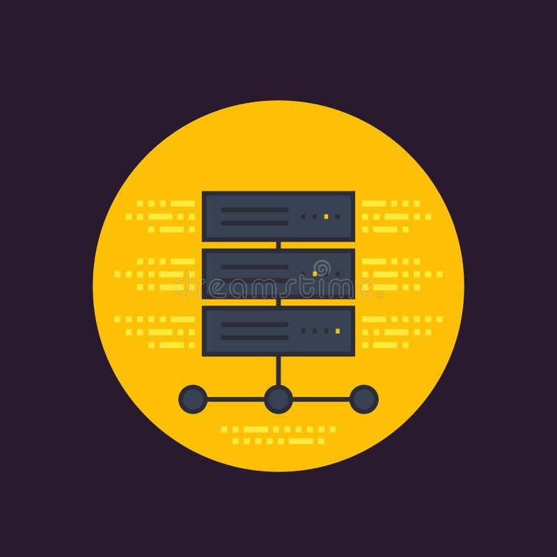 Server symbol för varande värd service vektor illustrationer