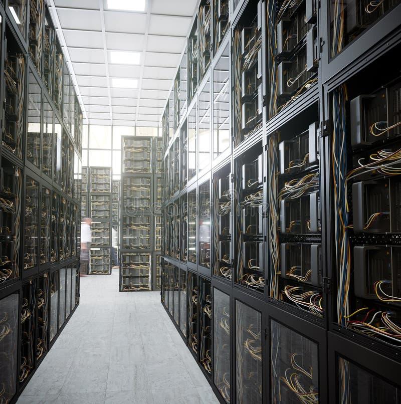 Server und Hardware-RaumComputertechnologiekonzeptfoto stockfotografie