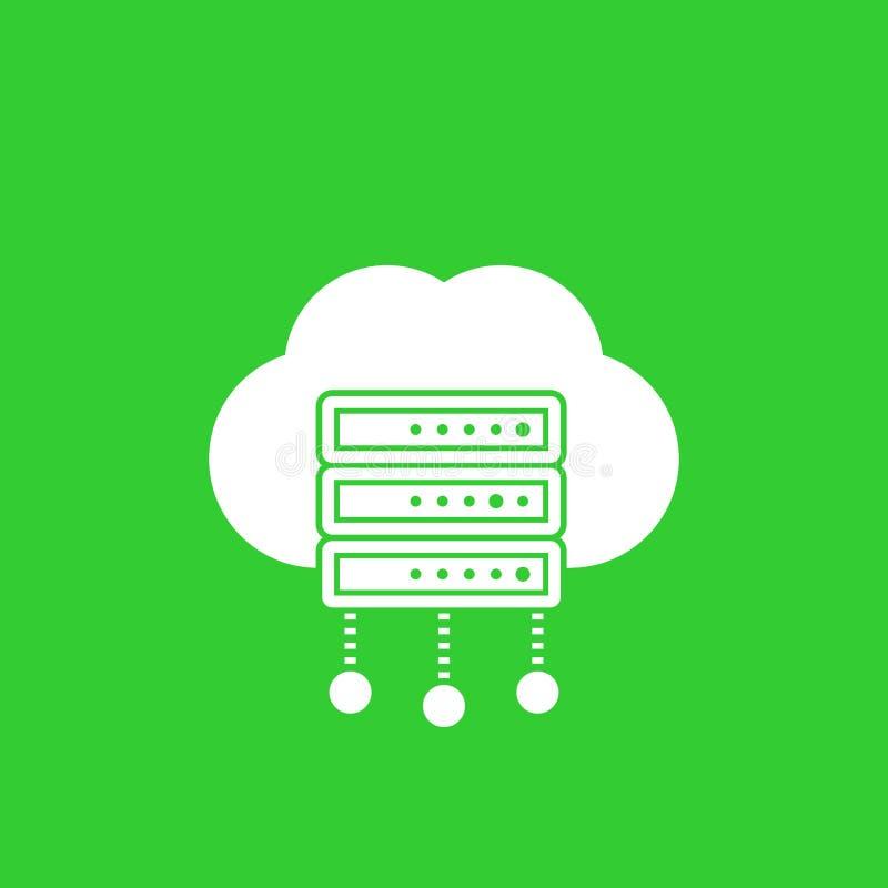 Server vektorsymbol för varande värd service stock illustrationer