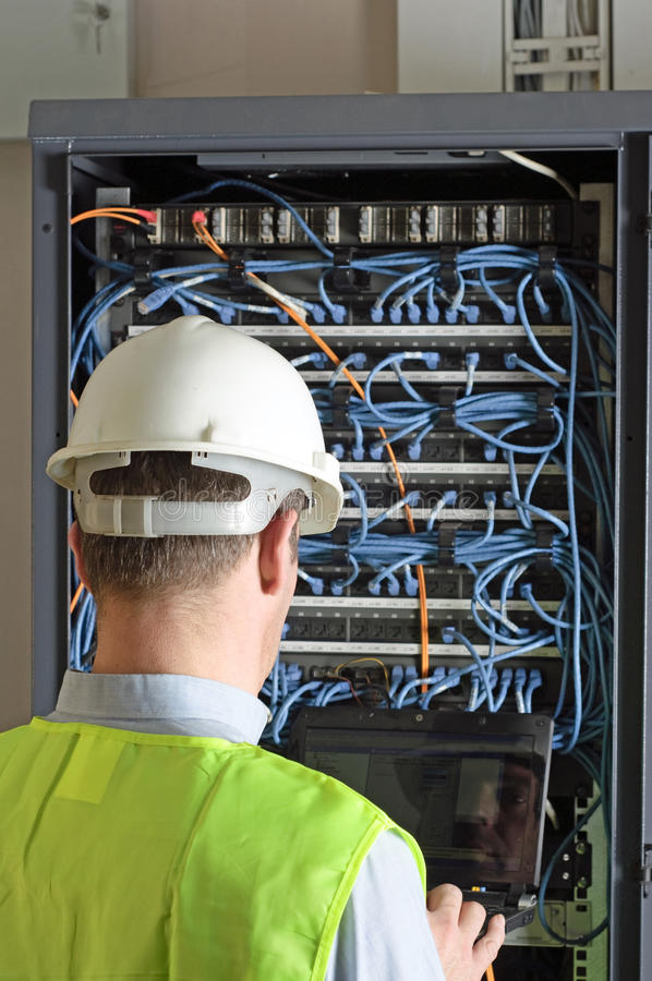 Download Server And Wires During Check-up Royalty Free Stock Image - Image: 19922526