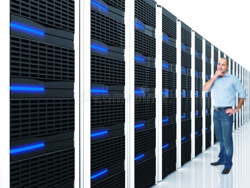 Server at work stock illustration