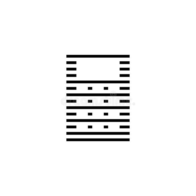 Serverdata, symbol för vektor för vara värd för rengöringsduk plan royaltyfri illustrationer
