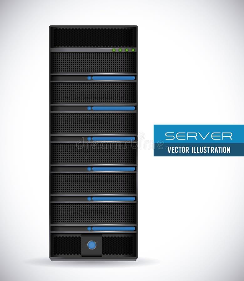 Serverdesign stock abbildung