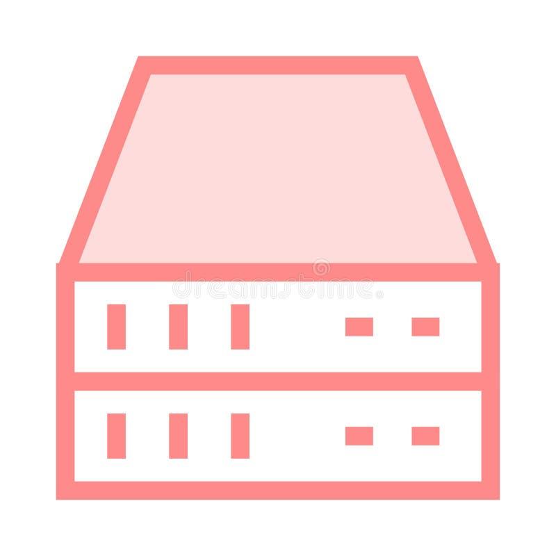 Serverfärglinje symbol stock illustrationer