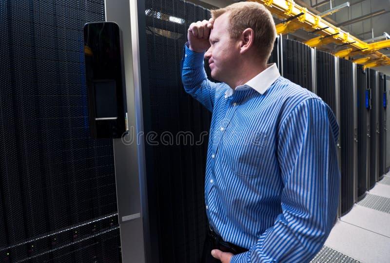 Serverfrustration lizenzfreie stockbilder
