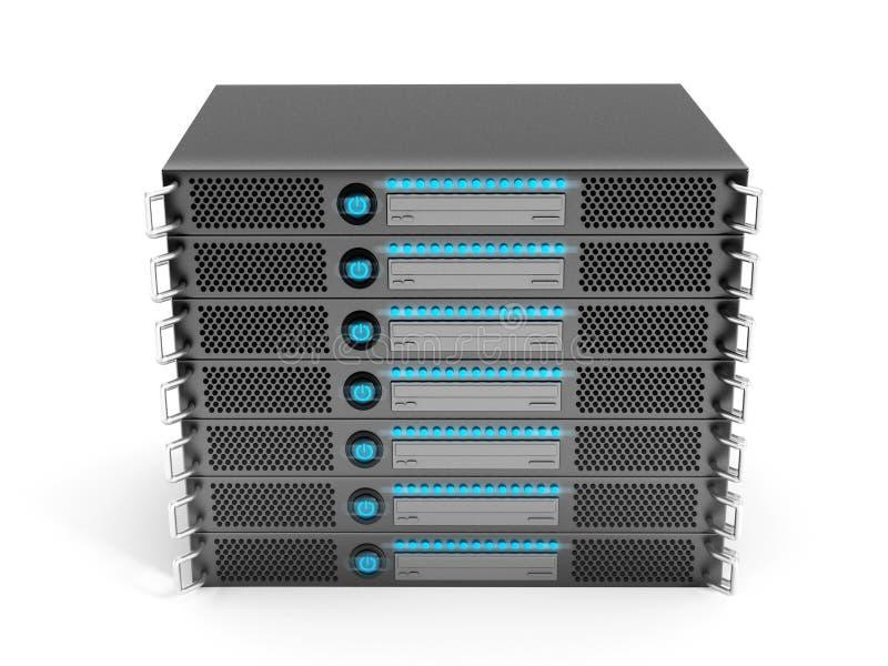 Servergestell stock abbildung