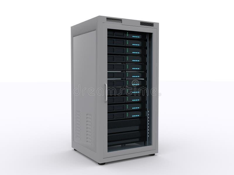 Servergestell lizenzfreie abbildung
