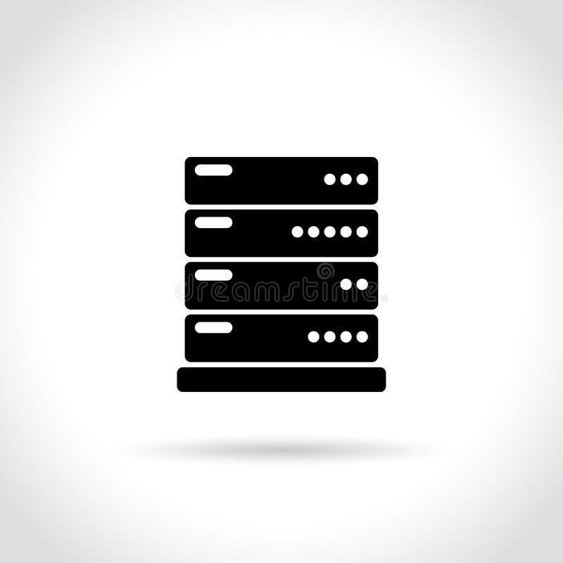 Serverikone auf weißem Hintergrund stock abbildung