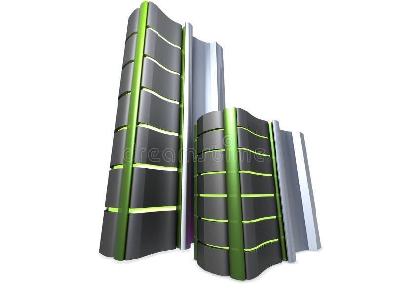 Serverkontrolltürme lizenzfreie abbildung