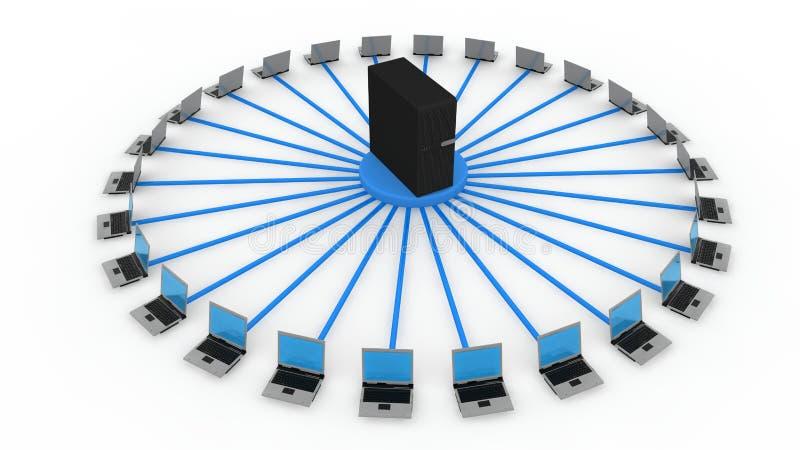 Serverkonzept stockbilder