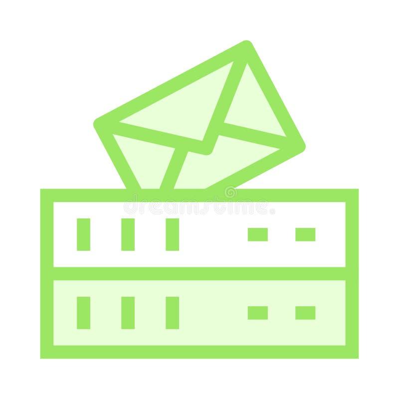 Servermitteilungs-Farblinieikone lizenzfreie abbildung