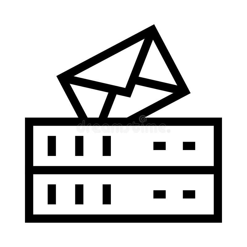 Servermitteilungsvektor Glyphsikone vektor abbildung