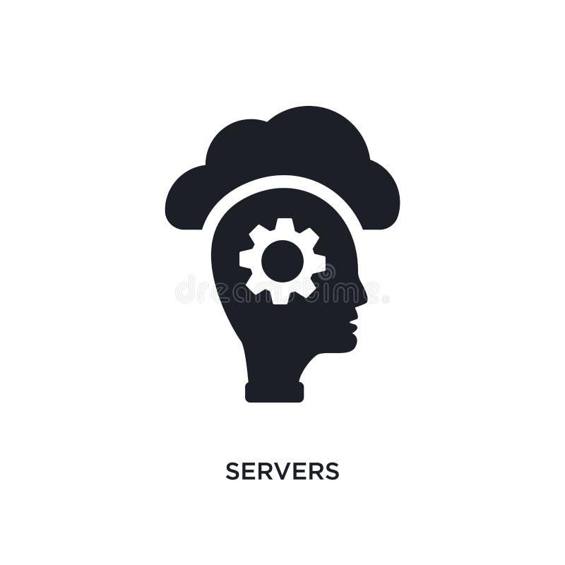 serveror isolerad symbol enkel beståndsdelillustration från begreppssymboler för konstgjord intelligens för logotecken för server stock illustrationer