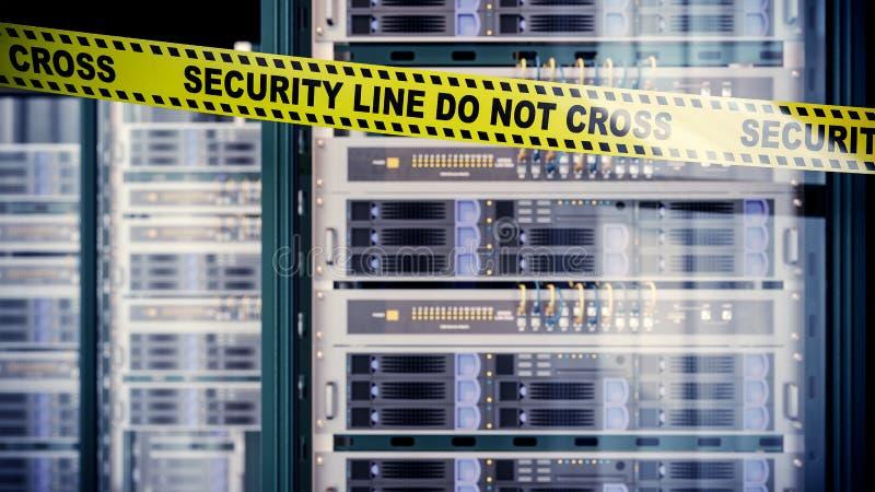 Serveror och begrepp för säkerhet för maskinvarurumdatateknik royaltyfri fotografi