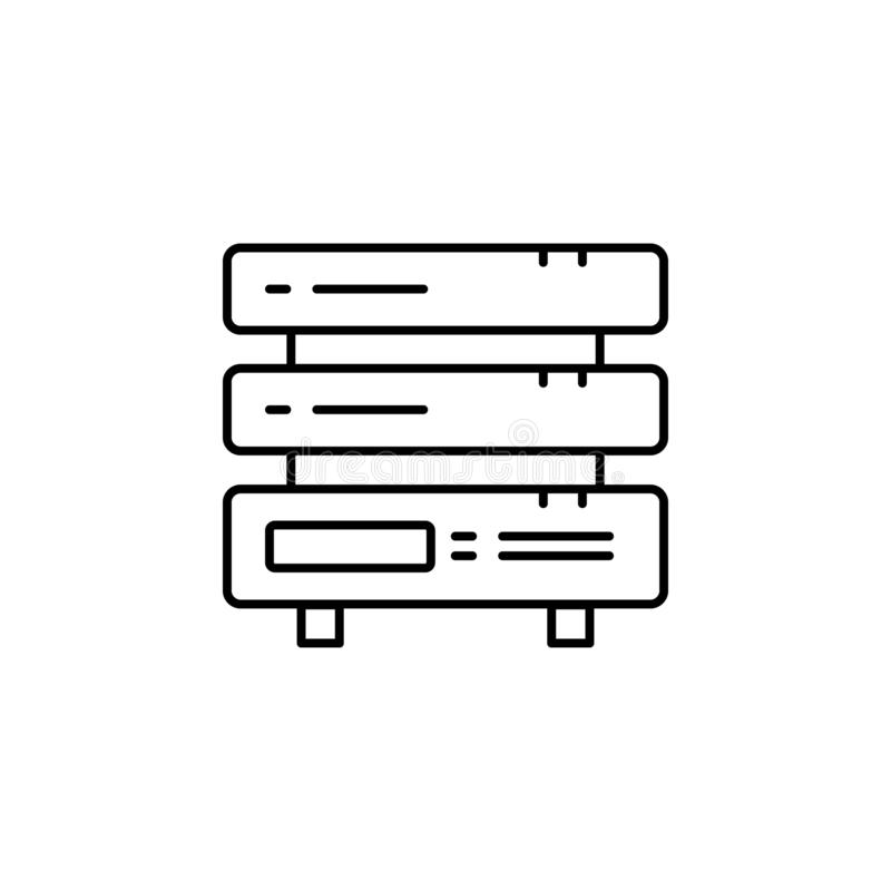 Serverpictogram Eenvoudige elementenillustratie Het symboolontwerp van het serverconcept Kan voor Web worden gebruikt en mobiel vector illustratie