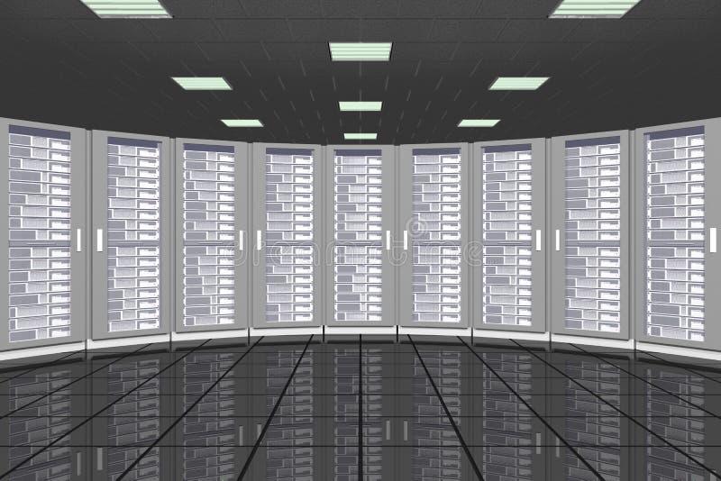 Serverraumzahnstangen stockfoto