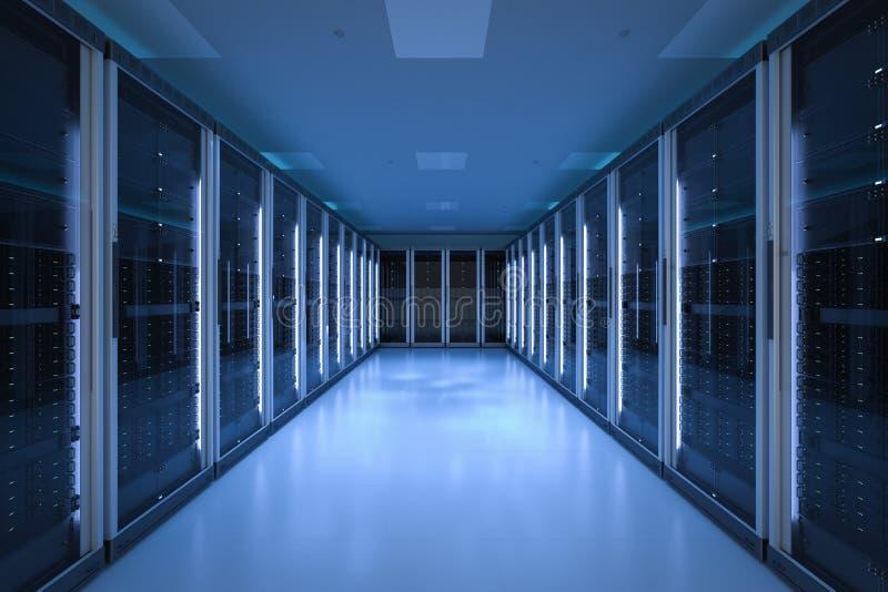 Serverruimte of servercomputers royalty-vrije stock foto