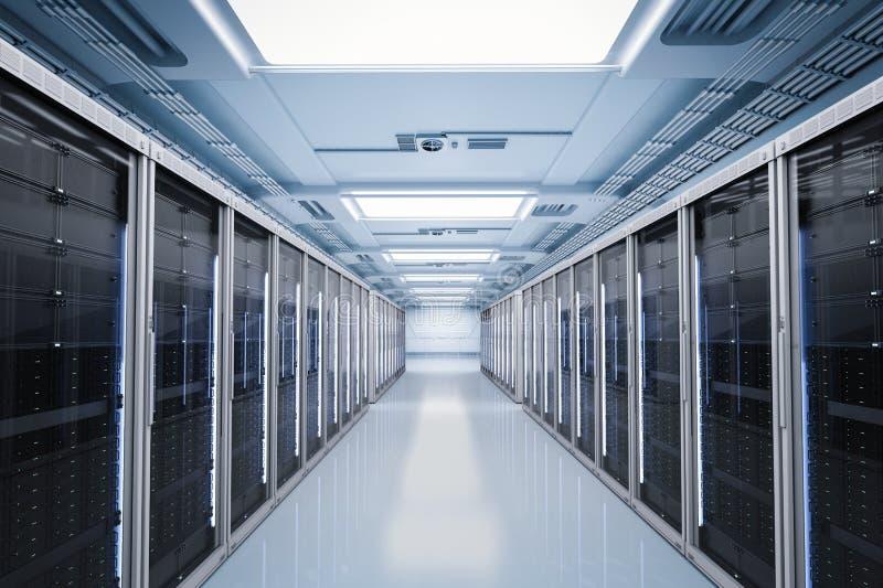 Serverrum eller serverdatorer royaltyfria foton