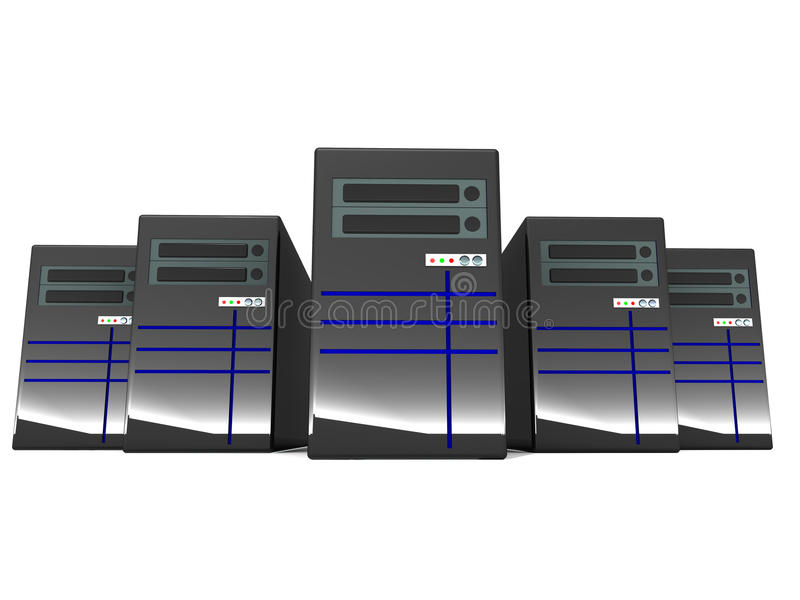 Download Servers stock illustration. Image of computer, many, black - 28729461