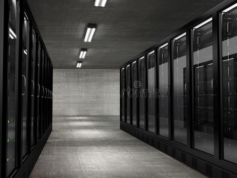 Servers royalty-vrije stock afbeelding