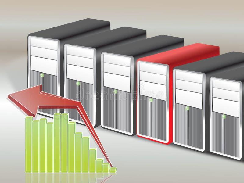 Servers. Realistic server isolated on background royalty free illustration